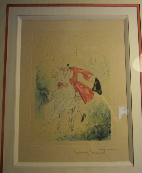 Beautiful erotic litho's, eau forte by Louis Icart, France